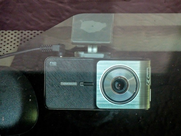 Thinkware X500 dash cam mounted on my windshield