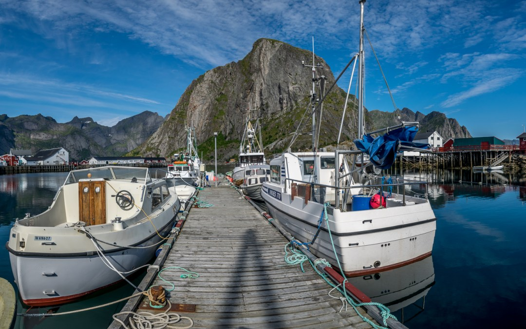 Wide-angle views of Lofoten Islands, Norway