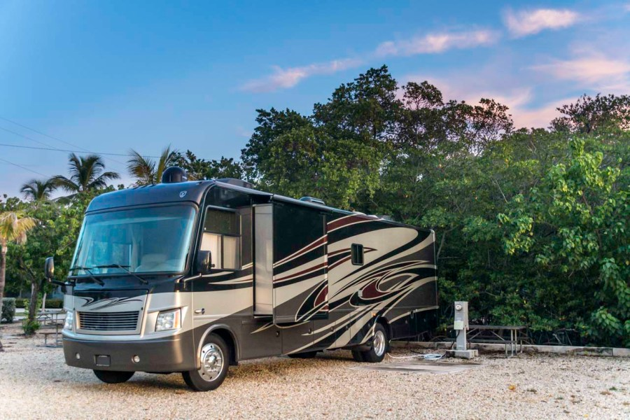Thor Challenger parked at Boyds Key West Campgrounds