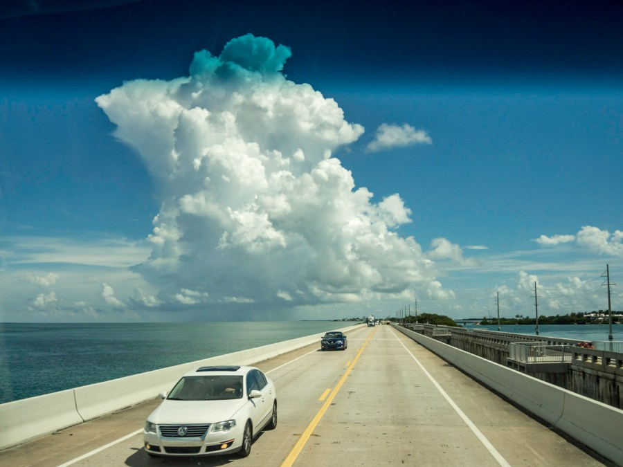 Clouds above the Florida Keys