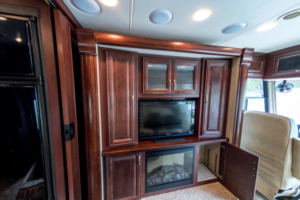 The well equipped living room in our Class A motorhome