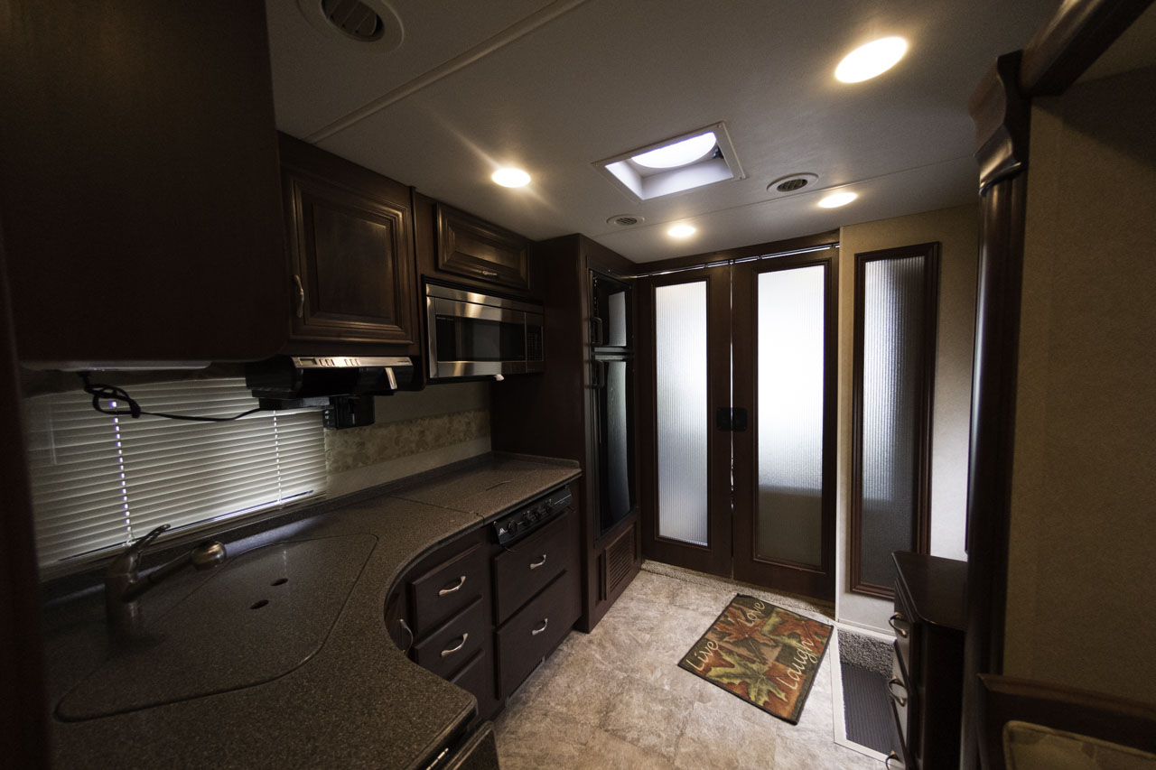 The Kitchen Area Of Thor Challenger Class A Motorhome