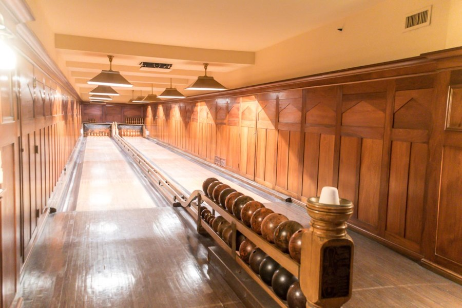 Bowling alleys at Nemours Mansion and Estate