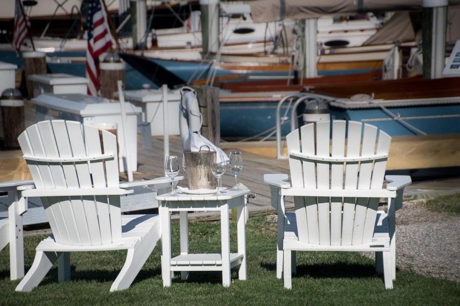 Adirondack chairs invite you to relax at The Inn at Perry Cabin