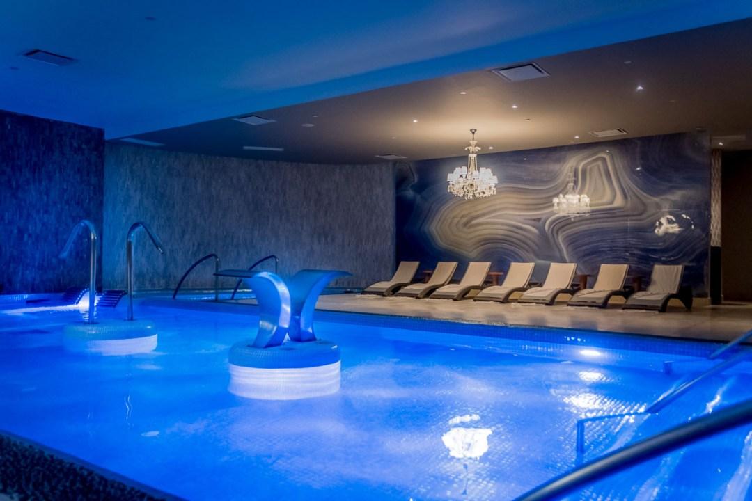 The hydro therapy pool at Awe Spa at Moon Palace Jamaica Grande
