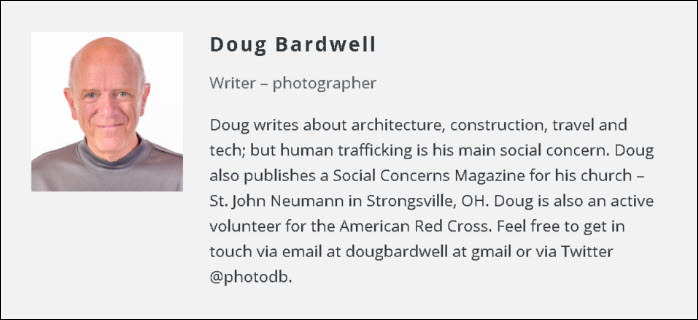 Biography for Doug Bardwell - Blogger - Writer - Photographer