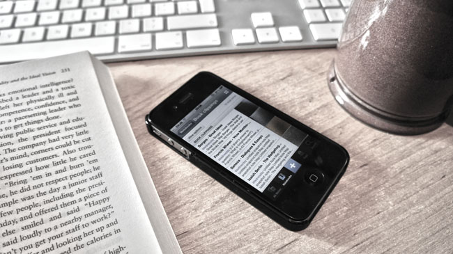 Taking photos of books with Evernote on iOS