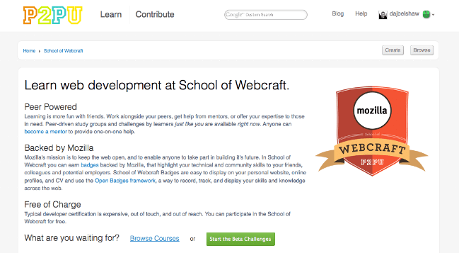Mozilla School of Webcraft