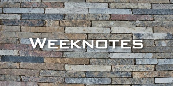 Weeknote 12/2013