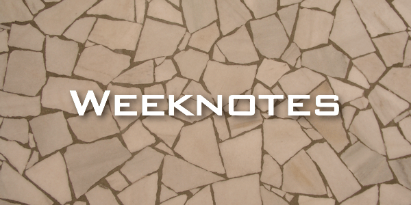 Weeknote 18
