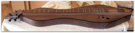 Dulcimer #132 by Doug Berch - walnut -side