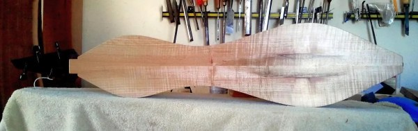 Dulcimer #143 by Doug Berch - curly maple - back