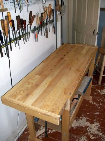 Leveling The Top Of My Workbench