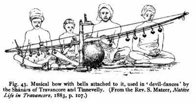 musical bow with bells