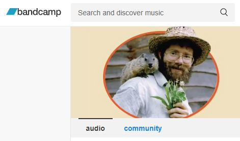 Clipping of a screen shot of Doug Elliott's Bandcamp page