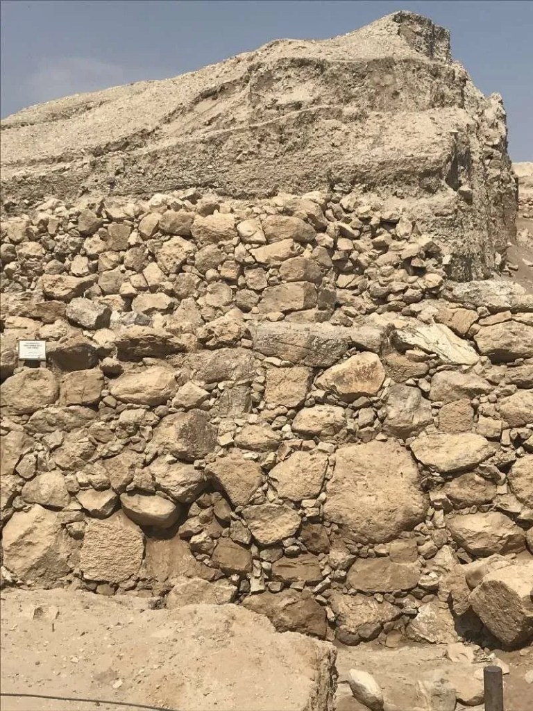 stone wall at Jericho