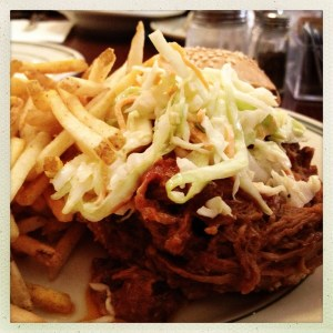 Spicy Pulled Pork Sandwich Nickel Diner