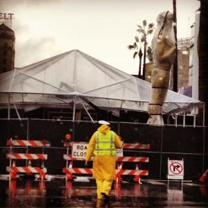 Oscars rain