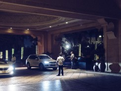 Valet workers at Hotel in Dubai. Olympus 17mm f1.8 Street photography
