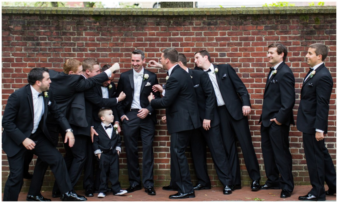 Groom, groomsmen, and ring bearer in philadelphia pa