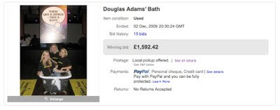 Douglas Adams' bath sold for 1,592.42 pounds sterling