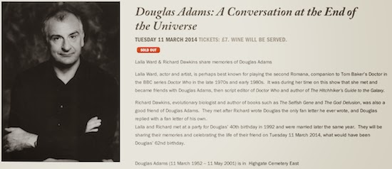 Douglas Adams 62nd Birthday : two events in London !