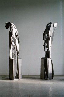 Portal, 2006–07. Stainless steel. Part I: 90 x 24 x 18 in., Part II 90 x 26 x 20 in.