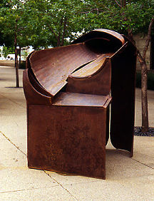 Gentle Rain, 1995. Steel-rust, paint. 92 x 73 x 47 in.