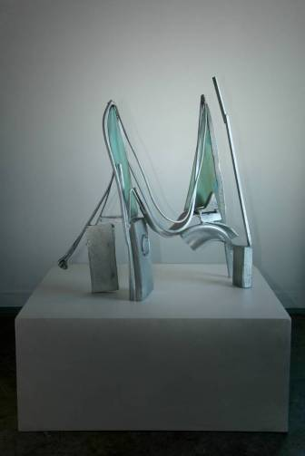 Rhythms for Velazquez, 2008–2012. Galvanized steel and iron, patinated brass 43 x 40 x 14 in.