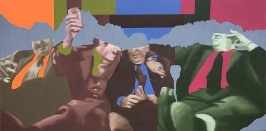 Moguls, Oil on canvas, 24x48