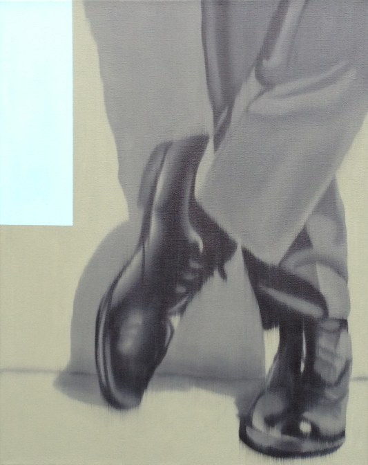 Dress Shoes Green, Oil on canvas, 20 x 16