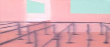 Queue, Oil on canvas, 10 x 23