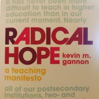 book cover: radical hope: a teaching manifesto