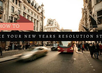 Make New Years Resolutions Stick
