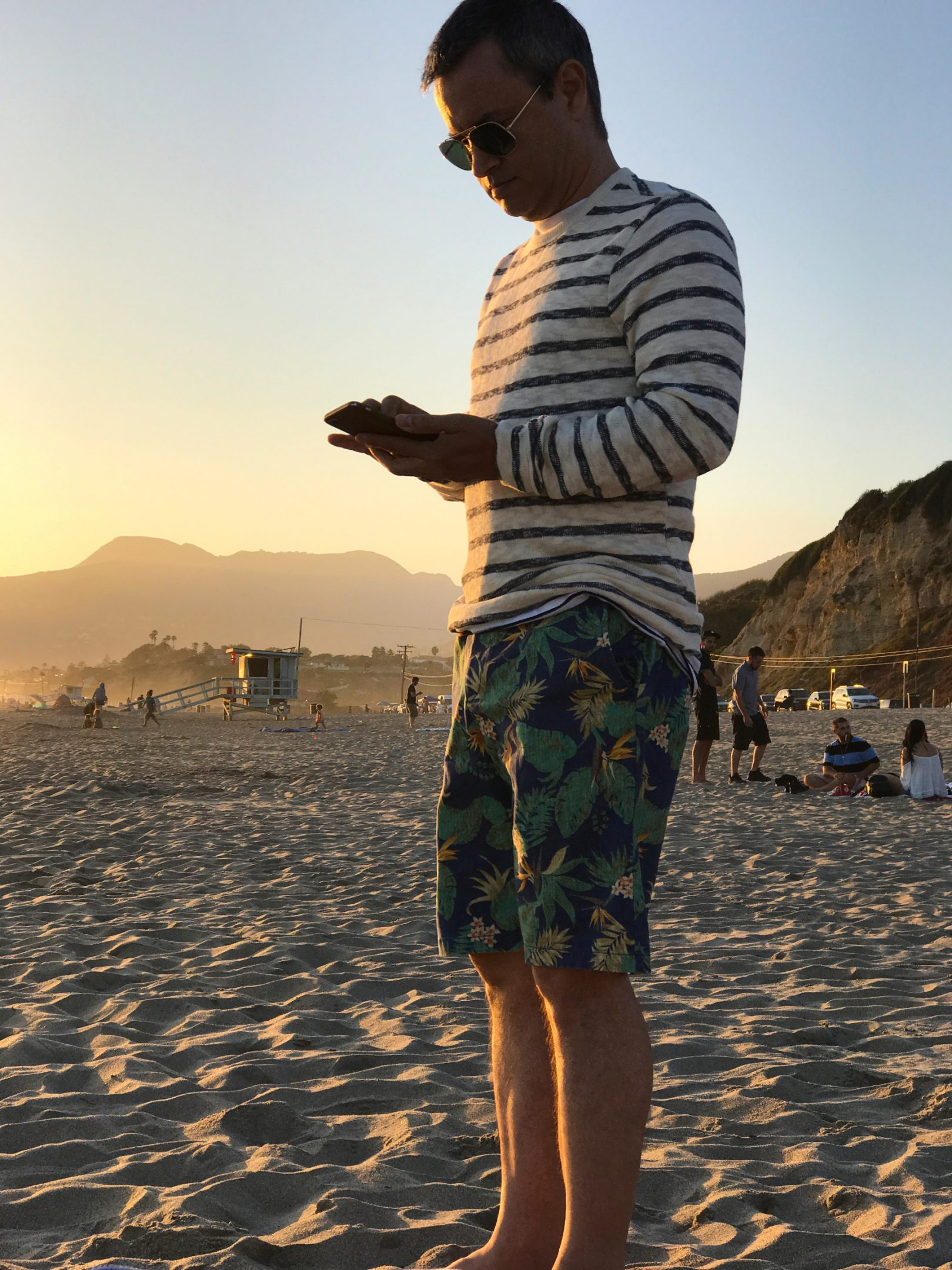Men's beach style outfit