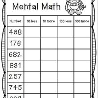 67 Free Printable Mental Math Worksheets 1