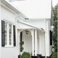 74 White Farmhouse Exterior Metal Roof 3