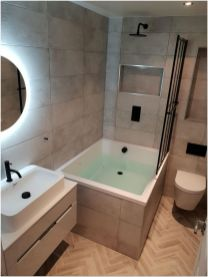77 Tips On Using Bathtubs Sinking Tubs And Shower Tiles In Your Tiny House Bathroom Design 20