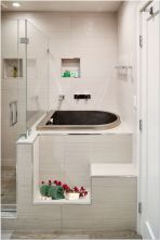 77 Tips On Using Bathtubs Sinking Tubs And Shower Tiles In Your Tiny House Bathroom Design 5