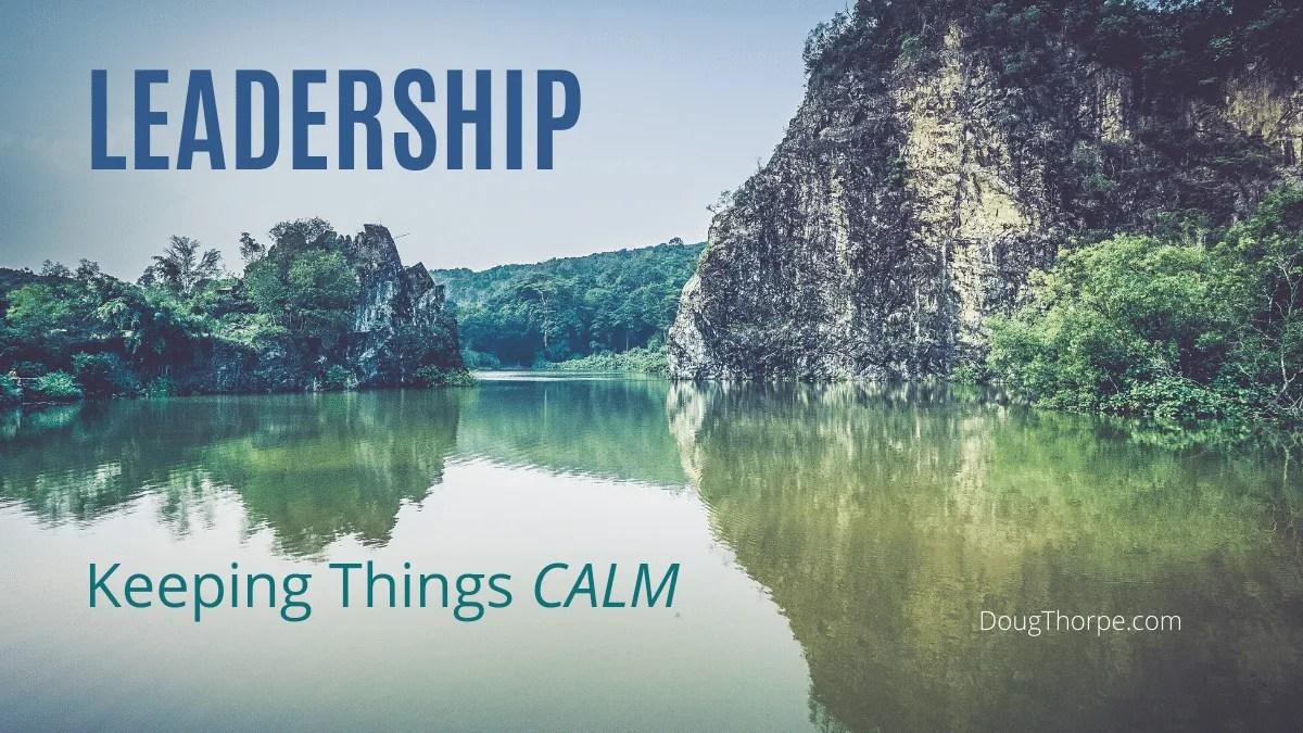 calm lake, leadership