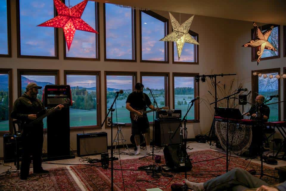 One of our rehearsals. That's Idaho in the background there. That's where we live.