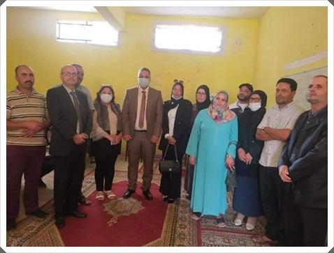 المدير الاقليمي لوزارة التربية الوطنية يقوم بزيارة لمركز التربية غير النظامية الأساس بالجماعة الترابية الحوزية