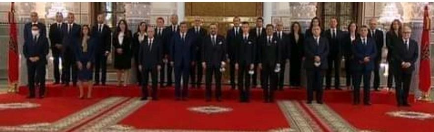 بالقصر الملكي بفاس صاحب الجلالة الملك محمد السادس يعين اعضاء الحكومة