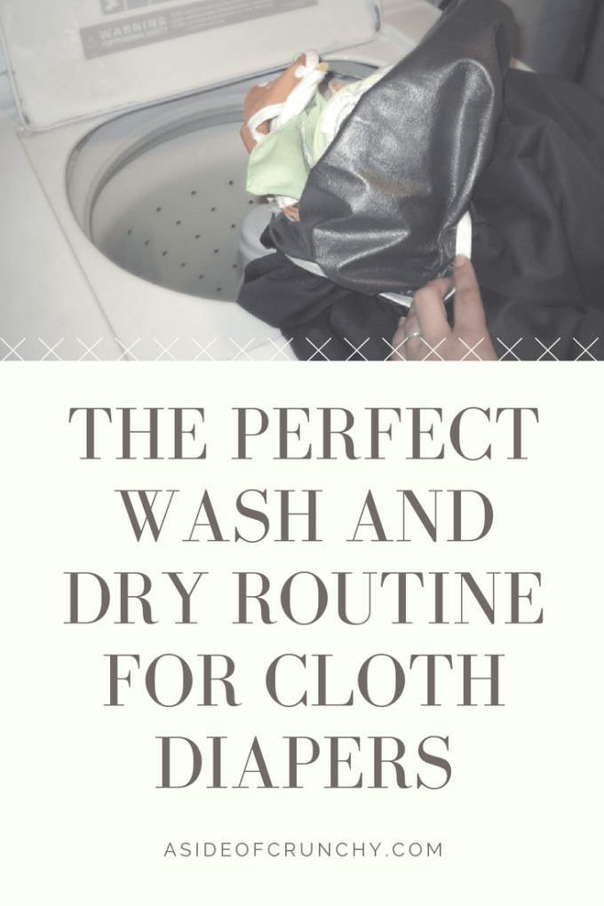 The perfect wash and dry routine for cloth diapers