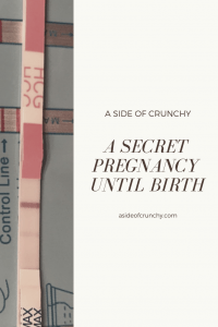 This is the pregnancy test that lead us to our secret pregnancy.