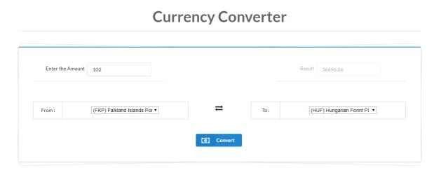 currency converter offline web app