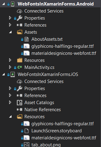 Adding Font Icons in Xamarin Forms Projects (iOS, Android)