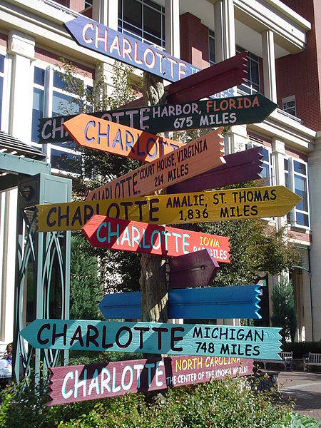 Signpost_in_Charlotte_North_Carolina_pointing_to_other_Charlottes