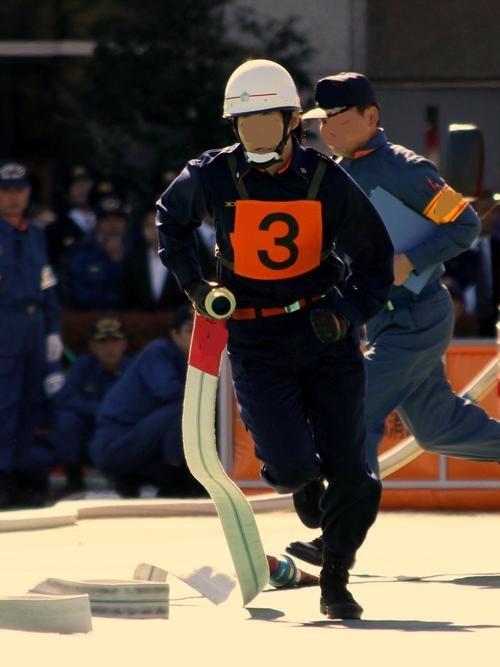 消防操法3番員(ポンプ車)タイム縮めるにはここがポイント