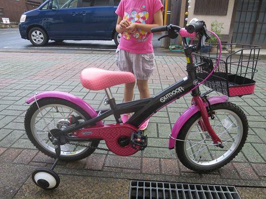 自転車補助輪なし